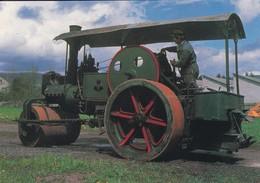 63----AMBERT--Rouleau Compresseur à Vapeur ALBARET--( Musée AGRIVAP )--voir 2 Scans - Cartes Postales
