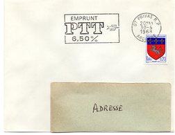 ARDECHE - Dépt N° 07 = PRIVAS RP 1968 = Flamme Codée = SECAP Illustrée  = EMPRUNT PTT 6,50% - Marcophilie (Lettres)