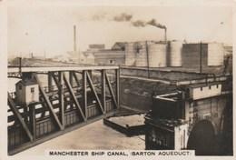 SENIOR SERVICE CIGARETTES - SIGHTS OF BRITAIN SECOND SERIES (1936) - MANCHESTER SHIP CANAL BARTON AQUEDUCT  9/48 - Sigarette (marche)