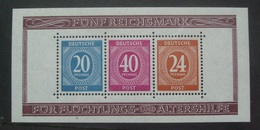 GERMANY 1946 NUMERALS MINISHEET SG MS925a UNMOUNTED MINT - Zona AAS