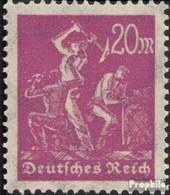 Deutsches Reich 241Y Liegendes Wasserzeichen Postfrisch 1922 Arbeiter - Allemagne