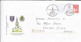 MAINE ET LOIRE 49 - GENNES SUR LOIRE - MEMORIAL DES CADET DE SAUMUR 23 JUIN 2000 - THEME ARMEE CAVALERIE - Marcophilie (Lettres)