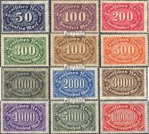 Deutsches Reich 246-257 (kompl.Ausg.), Mit Wasserzeichen 2 Waffeln Postfrisch 1922 Ziffer - Germany