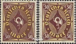 Deutsches Reich 208P,208W, Entrambi Tipi, Grande E Piccolo 30 MNH 1922 Horn - Germany