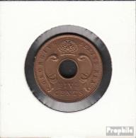 Brit. Ostafrika Und Uganda 33 1949 Stgl./unzirkuliert Bronze Stgl./unzirkuliert 1949 5 Cents George VI. - Ostafrika Und Herrschaft Von Uganda