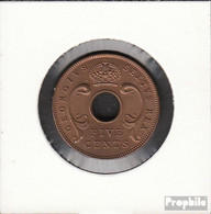 Brit. Ostafrika Und Uganda 33 1949 Stgl./unzirkuliert Bronze Stgl./unzirkuliert 1949 5 Cents George VI. - Africa Orientale E Protettorato D'Uganda