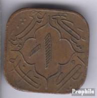 Haidarabad 59 1362 Sehr Schön Bronze 1362 1 Anna Toughra - Indien