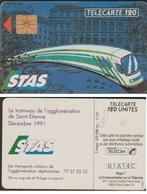 F200 TELECARTE STAS TRAM ST ETIENNE 120 U PUCE GEM 1991/11   COTE 29€ - France