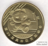Volksrepublik China KM-Nr. : 1811 2008 Stgl./unzirkuliert Messing Stgl./unzirkuliert 2008 1 Yuan Olympische Spiele Fecht - China