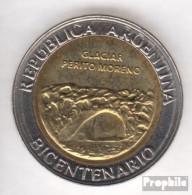 Argentinien KM-Nr. : 160 2010 Stgl./unzirkuliert Bi-Metallic Aluminium-Bronze Stgl./unzirkuliert 2010 1 Peso Glaciar Per - Argentine