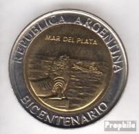 Argentinien KM-Nr. : 158 2010 Stgl./unzirkuliert Bi-Metallic Aluminium-Bronze Stgl./unzirkuliert 2010 1 Peso Mar Del Pla - Argentine