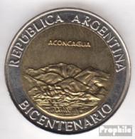 Argentinien KM-Nr. : 157 2010 Stgl./unzirkuliert Bi-Metallic Aluminium-Bronze Stgl./unzirkuliert 2010 1 Peso Aconcagua - Argentine