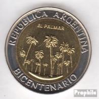 Argentinien KM-Nr. : 156 2010 Stgl./unzirkuliert Bi-Metallic Aluminium-Bronze Stgl./unzirkuliert 2010 1 Peso El Palmar - Argentine