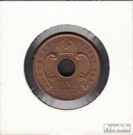 Brit. Ostafrika Und Uganda 33 1949 Stgl./unzirkuliert Bronze 1949 5 Cents George VI. - Ostafrika Und Herrschaft Von Uganda