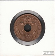 Brit. Ostafrika Und Uganda 33 1949 Stgl./unzirkuliert Bronze 1949 5 Cents George VI. - Africa Orientale E Protettorato D'Uganda