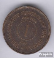 Jordan Km-number. : 2 1949 Very Fine Bronze Very Fine 1949 1 Fils Abdullah - Jordanië
