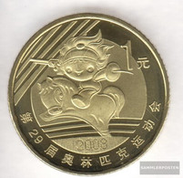 People's Republic Of China Km-number. : 1812 2008 Stgl./unzirkuliert Brass Stgl./unzirkuliert 2008 1 Yuan Olympics Games - China