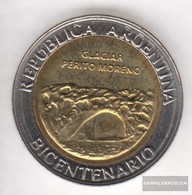 Argentina Km-number. : 160 2010 Stgl./unzirkuliert Bi-Metallic Aluminum-Bronze Stgl./unzirkuliert 2010 1 Peso Glaciar Pe - Argentina