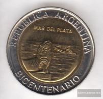 Argentina Km-number. : 158 2010 Stgl./unzirkuliert Bi-Metallic Aluminum-Bronze Stgl./unzirkuliert 2010 1 Peso March Del - Argentina