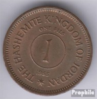 Jordanie Km-no. : 8 1963 Très Déjà Bronze 1963 1 Fils Hussein - Jordan