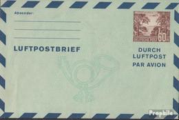 Berlin (West) LF3 Luftpost-Faltbrief Ungebraucht 1950 Bäume/Flugzeug - Berlin (West)