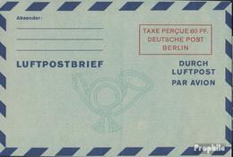Berlin (West) LF2a I Luftpost-Faltbrief Ungebraucht 1949 Wertkästchen - Berlin (West)