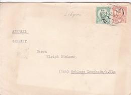 SOBRE ENVELOPE CIRCULEE LIBYEN TO GERMANY 1955.-BLEUP - Libië