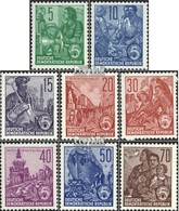 DDR 577B-585B (completa Edizione) Perforazione Stretto, Regolarmente MNH 1958 Five-Year Plan - [6] Democratic Republic