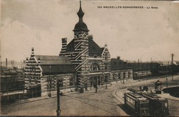 Schaerbeek La Gare Avec Tram - Estaciones Sin Trenes