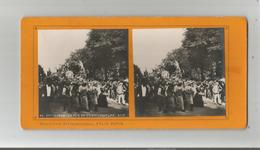 PARIS (75) 95 EXPO 1900 PHOTO STEREOSCOPIQUE LA FETE DE L'HORTICULTURE (BELLE ANIMATION) COLLECTION FELIX POTIN - Stereoscopic
