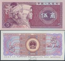 Volksrepublik China Pick-Nr: 883b Bankfrisch 1980 5 Jiao - China