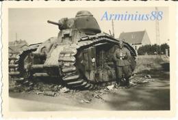 France, 1940 - CHARS B1 Et B1bis - GLORIEUX N° 236, 8e BCC 3e Compagnie - À Moy (Aisne) - War, Military