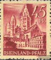 Franz. Zone-Rheinland Palatine 10I, Eingedellte 4 And Point (Field 81) Unmounted Mint / Never Hinged 1947 Postage Stamp - Zone Française
