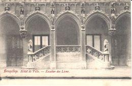Bruxelles - CPA - Brussel - Hôtel De Ville - Escalier Des Lions - Marktpleinen, Pleinen