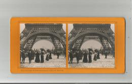 PARIS (75) 66 EXPO 1900 PHOTO STEREOSCOPIQUE VUE PRISE SOUS LA TOUR EIFFEL COLLECTION FELIX POTIN - Stereo-Photographie
