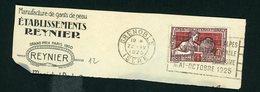 """FLAMME """"GRENOBLE - REINE DES ALPES EXPOSITION INTERNATIONALE HOUILLE BLANCHE - TOURISME MAI-OCTOBRE 1925"""" DE GRENOBLE 1 - Marcofilia (sobres)"""
