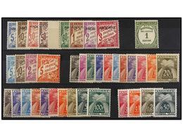 837 ** ANDORRA: ANDORRA FRANCESA. Ed.T 1/8, 16, 17/20, 21/31, 32/41, 42/45. 1931-61. <B>TASAS</B>. Conjunto De Series Co - Stamps