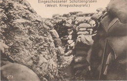 AK Eingeschossener Schützengraben Tranchée WWI Weltkrieg Militär Militaria Guerre Militaire France Belgique Elsaß ? - Ausrüstung