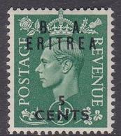 Italy-British Occupation B.  A.Eritrea Sassone 14 1950 King George VI Overprinted 5c Green, Mint Never Hinged - British Occ. MEF