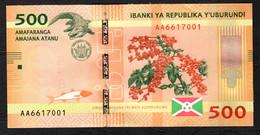 BURUNDI : 500  Francs - 2015 - UNC - Burundi