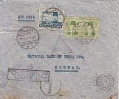 AIRMAIL CIRCULEE ALEXANDRIA TO BOMBAY 1941. FOREIN POSTAGE DUE. AVEC AUTRES MARQUES. EGYPT.-BLEUP - Luchtpost