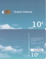B-173 TARJETA DE ESPAÑA DE MOVISTAR CABINAS  DE 10 EUROS DE FECHA 10/16 Y TIRADA 40000 (TELEFONICA) - Spanien