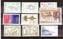 Andorre - 1989 - Complet Neuf ** - N° 376 à 384 - French Andorra