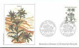 Envelope 1er Jour  1983  Fleur De Montagne Carline 31 Toulouse - France