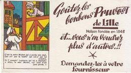 Buvard Goûtez Les Bonbons PRUVOST De Lille (Nord) Chanson La Mère Michel, Chat - Cake & Candy