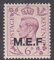 Italy-British Occupation M.E.F. Sassone 11 1943 King George VI 6d Lilac, London Printing, Mint Never Hinged - British Occ. MEF