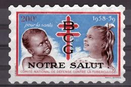 """Vignette Grand Format - 1958/59 - """"Notre Salut - Pour La Santé - BCG - Défense Contre Tuberculose"""" - 200 F- Raoul Serres - Erinnofilia"""