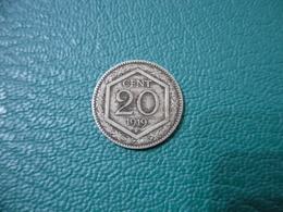REGNO D'ITALIA 20 CENTESIMI ESAGONO 1919. - 1861-1946 : Kingdom