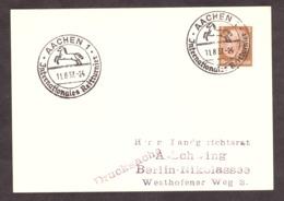 Carte - Tournoi International De Cavaliers à Aachen - 1937 - Cheval - Horses