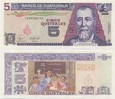 GUATEMALA     5 Quetzales     P-106c     17.1.2007     UNC - Guatemala